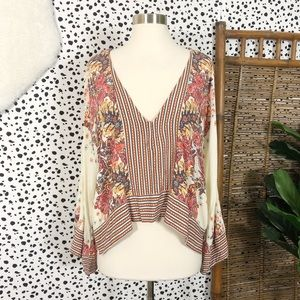 Free People | Mix N Match Floral Flowy Blouse Top